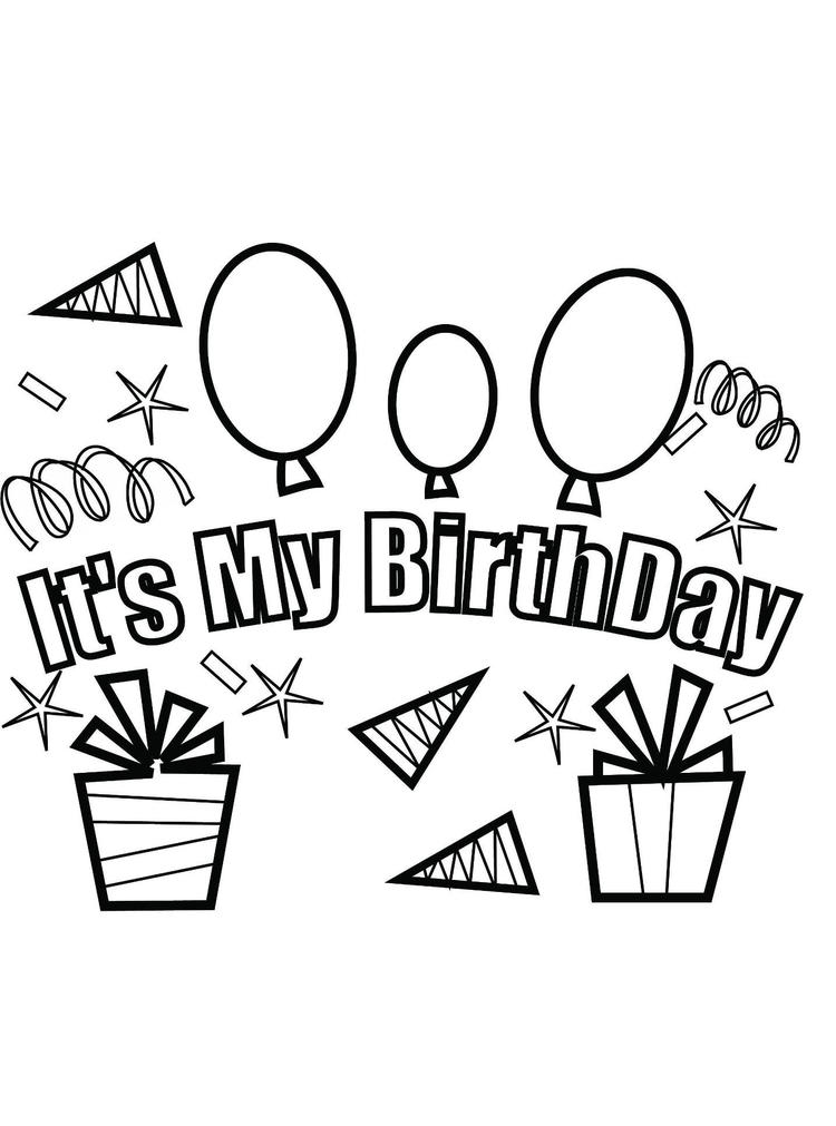 Its My Party Free Birthday Coloring Pages