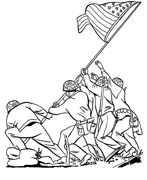 Iwo Jima Army History Coloring Pages