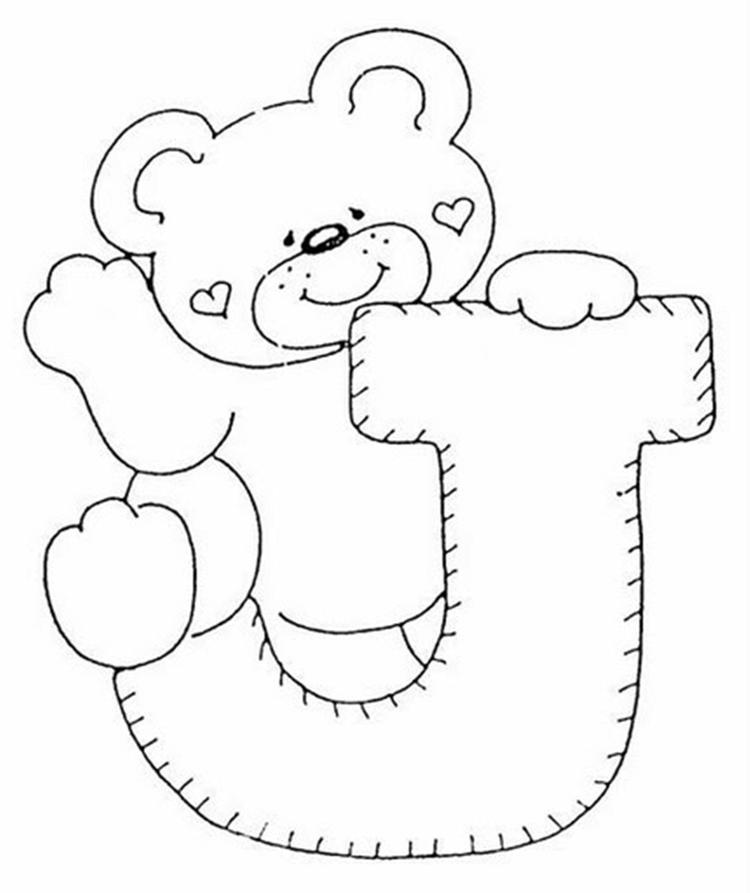 J Alphabet Coloring Page For Kids