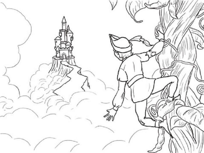 Jack And The Beanstalk Castle Coloring Pages