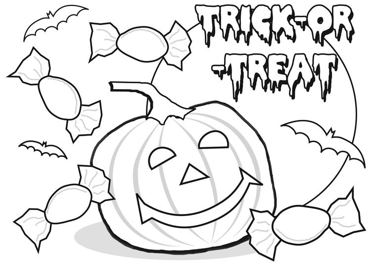Jack O Lantern Coloring Pages Trick Or Treat