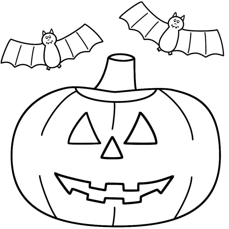 Jack O Lantern Coloring Pages With Bats