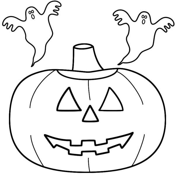 Jack O Lantern Coloring Pages With Ghosts