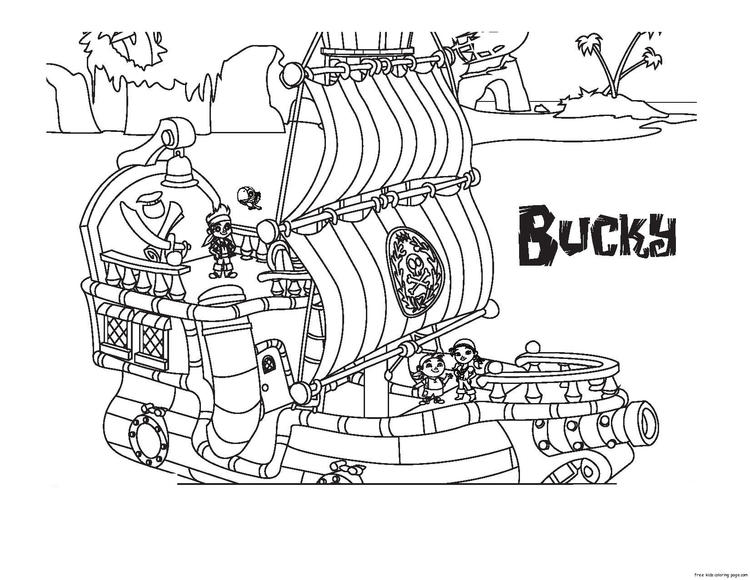 Jake And The Never Land Pirates Bucky Coloring Book Pages1