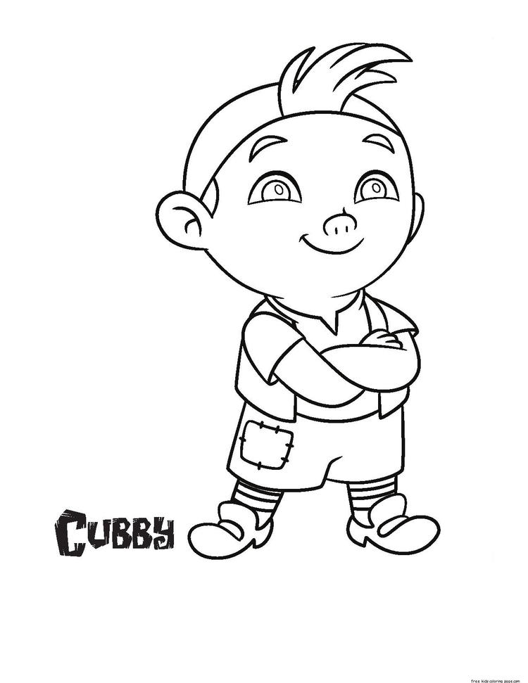Jake And The Never Land Pirates Cubby Coloring Pages