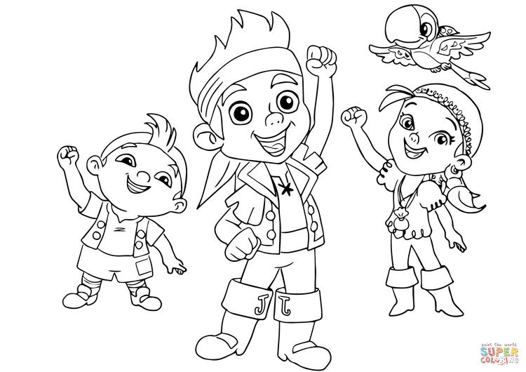 Jake And The Neverland Pirates Colouring Page Printable