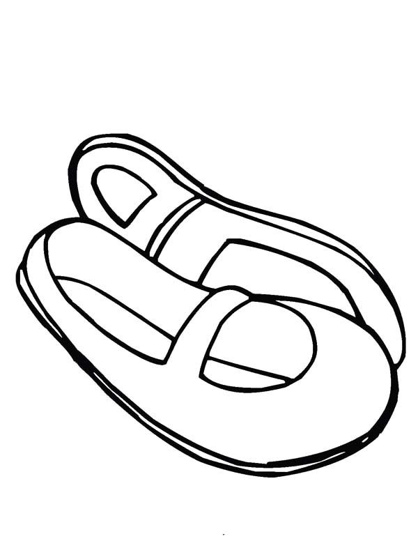 Japanese Ballerina Shoes Coloring Pages