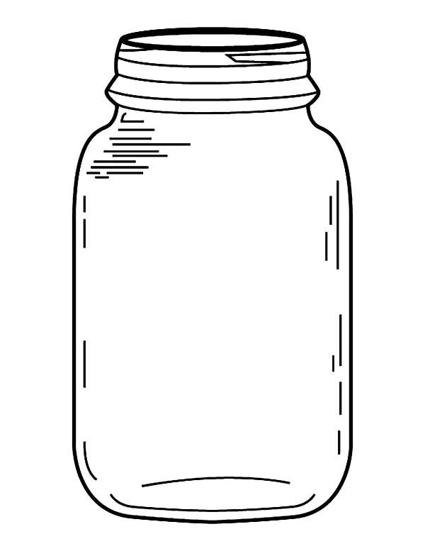 Jar Coloring Pages For Kids