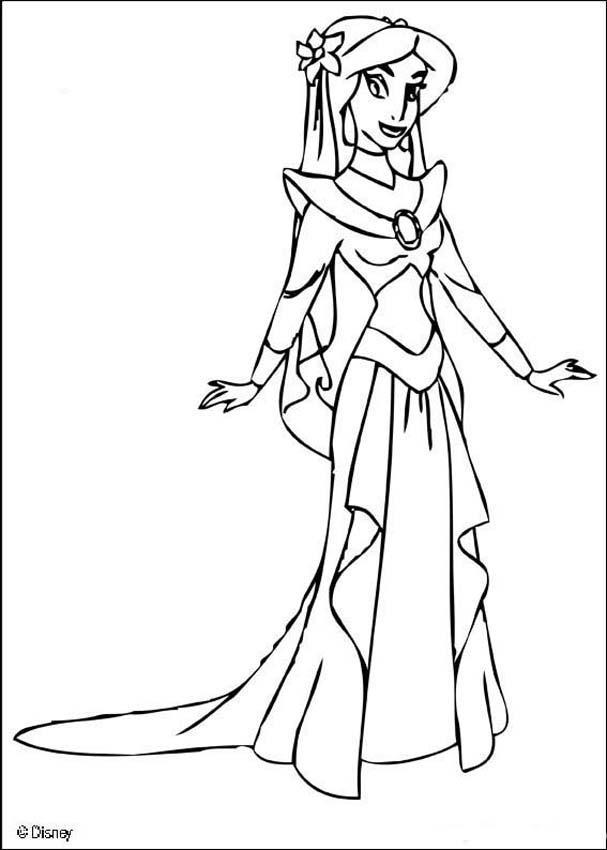 Jasmine Coloring Pages To Print 1
