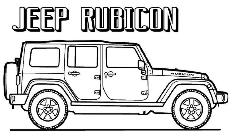 Jeep Rubicon Coloring Page