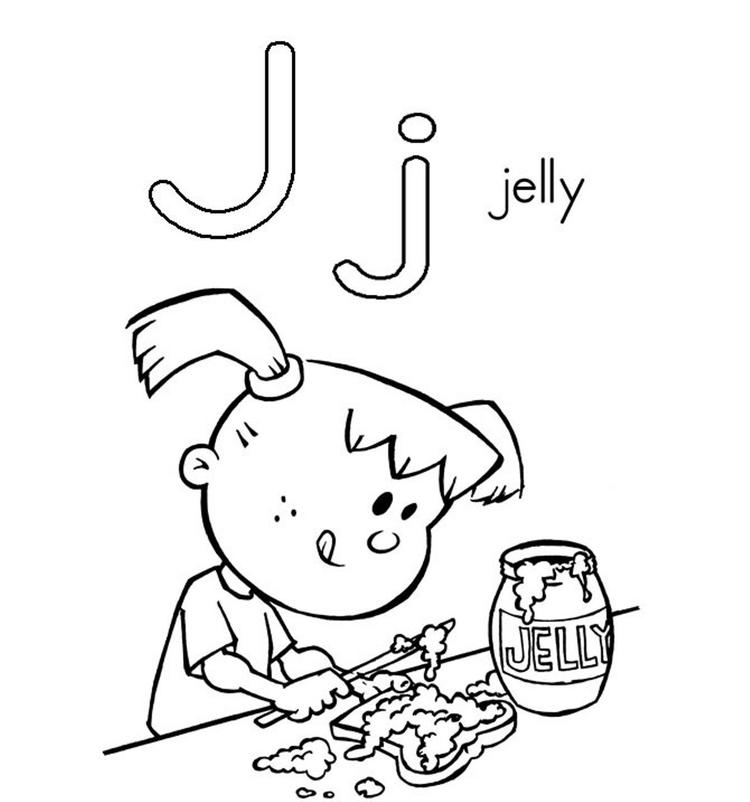Jelly Alphabet Coloring Page