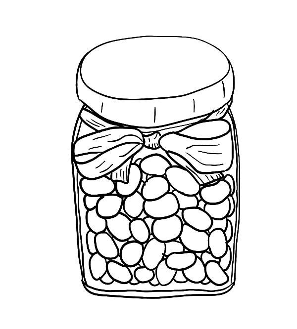 Jelly Beans In Jar Coloring Pages