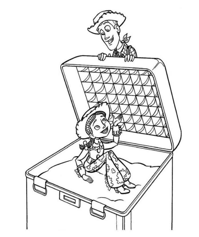 Jessie And Woody Sherif Toy Story Coloring Pages