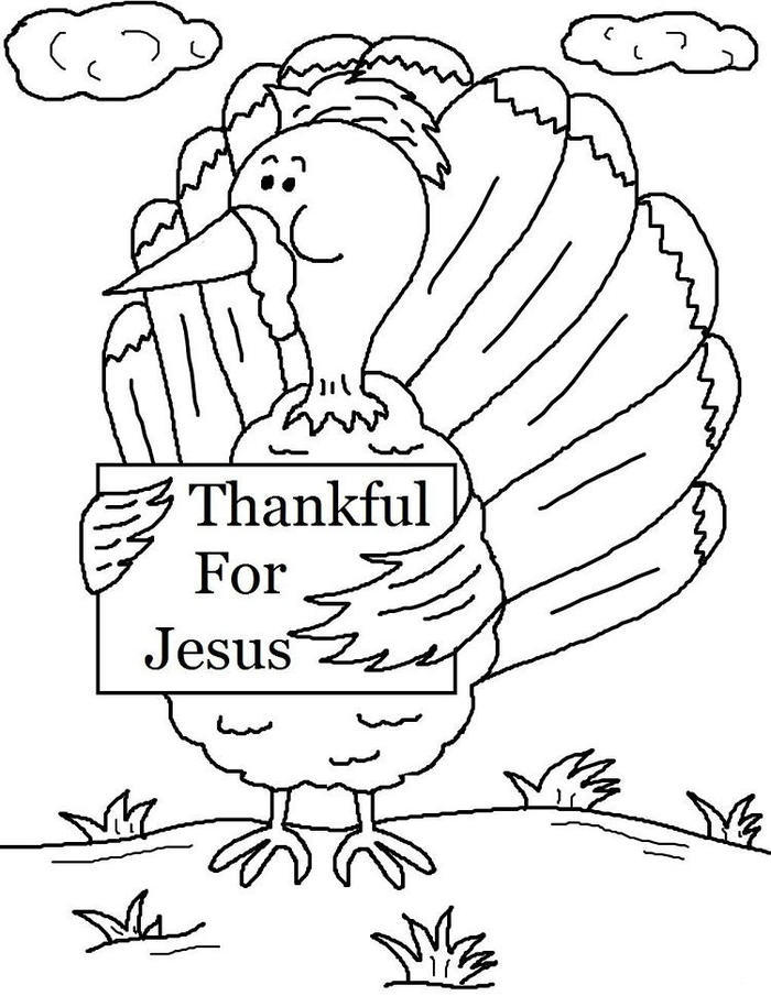 Jesus Coloring Pages For Thanksgiving