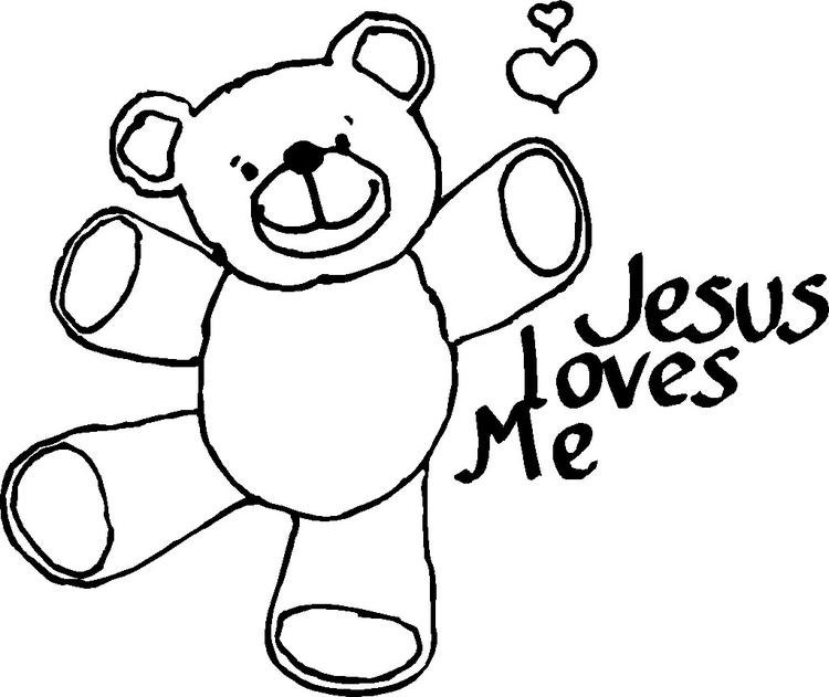 Jesus Coloring Pages He Loves Me