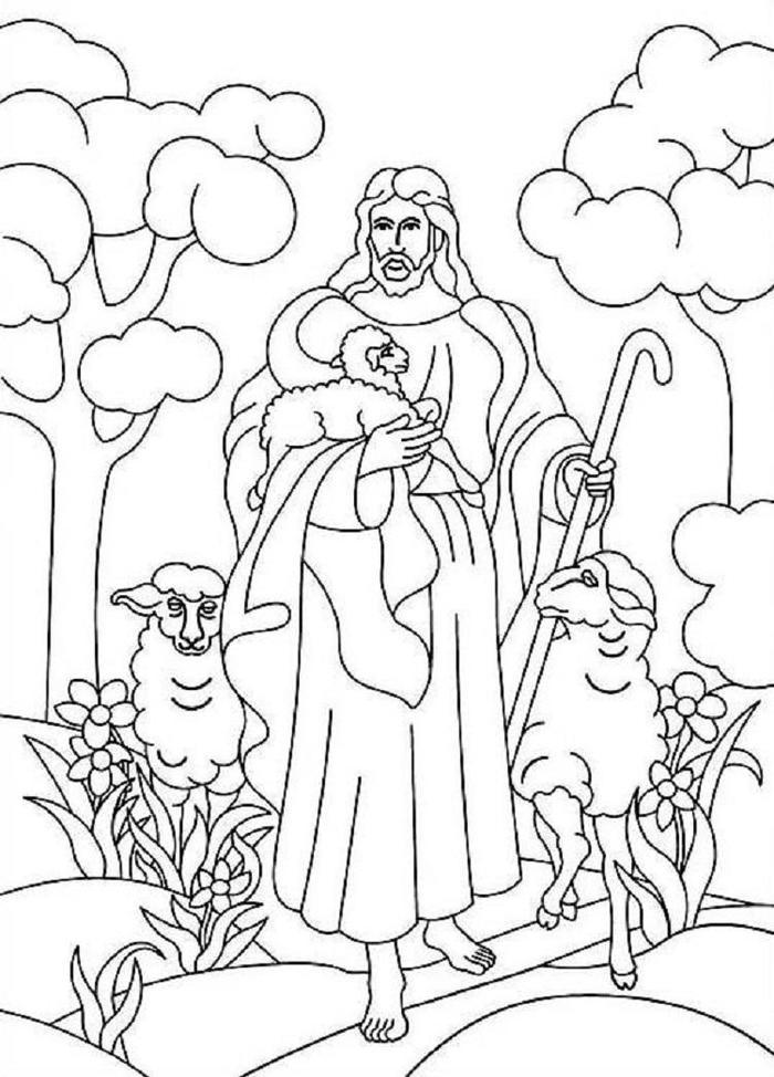 Jesus The Good Shepherd Bible Coloring Pages