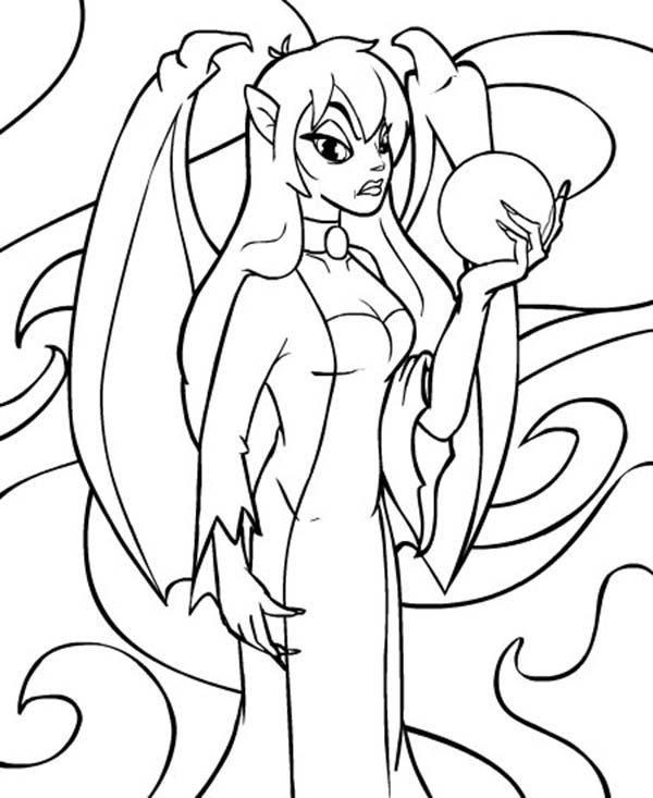 Jhudora Holding Crystal Ball Neopets Coloring Pages