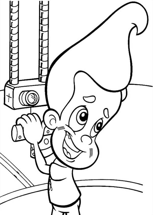 Jimmy Neutron In A Submarine Coloring Pages