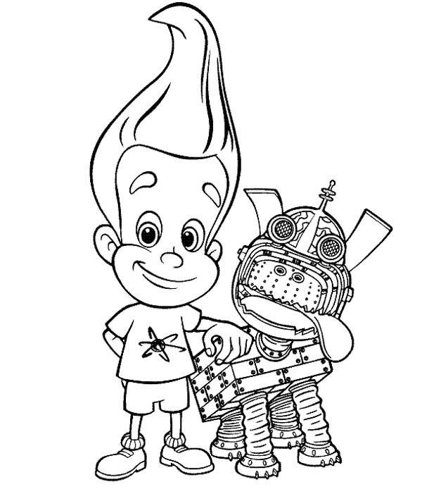 Jimmy Neutron Pet Goddard Coloring Pages