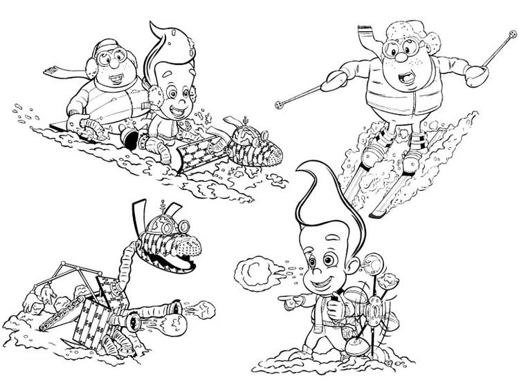 Jimmy Neutron The Movie Coloring Pages
