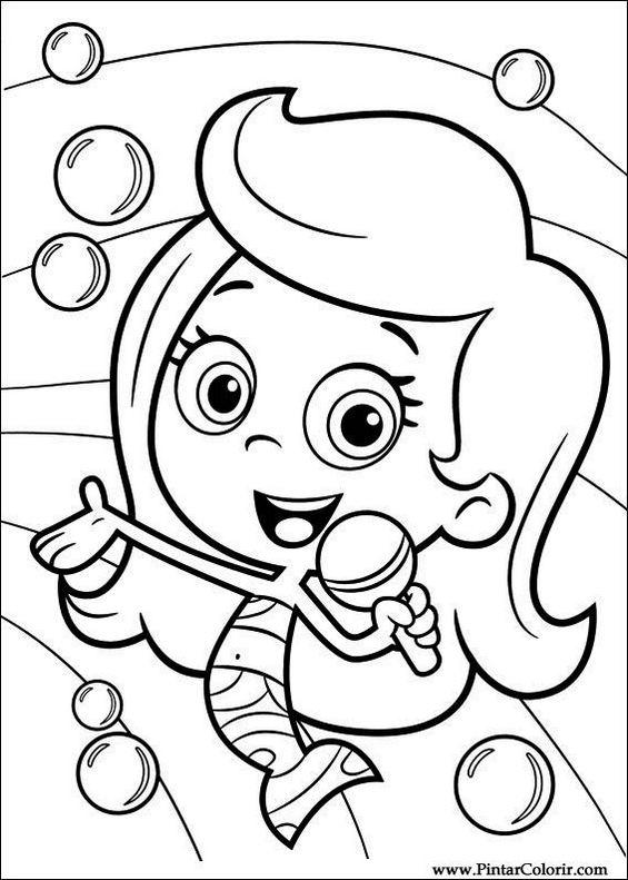 Jogos De Pintar Bubble Guppies Coloring Pages