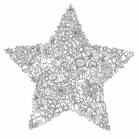 Johanna Christmas Star Coloring Book