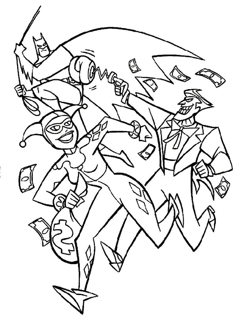 Joker Coloring Pages And Harley