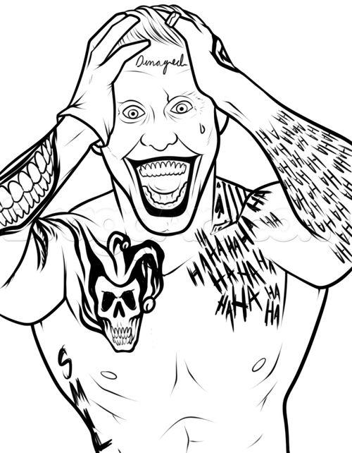Joker Coloring Pages Suicide Squad