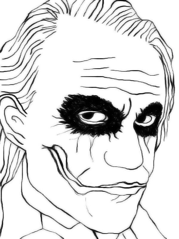 Joker Face Coloring Pages