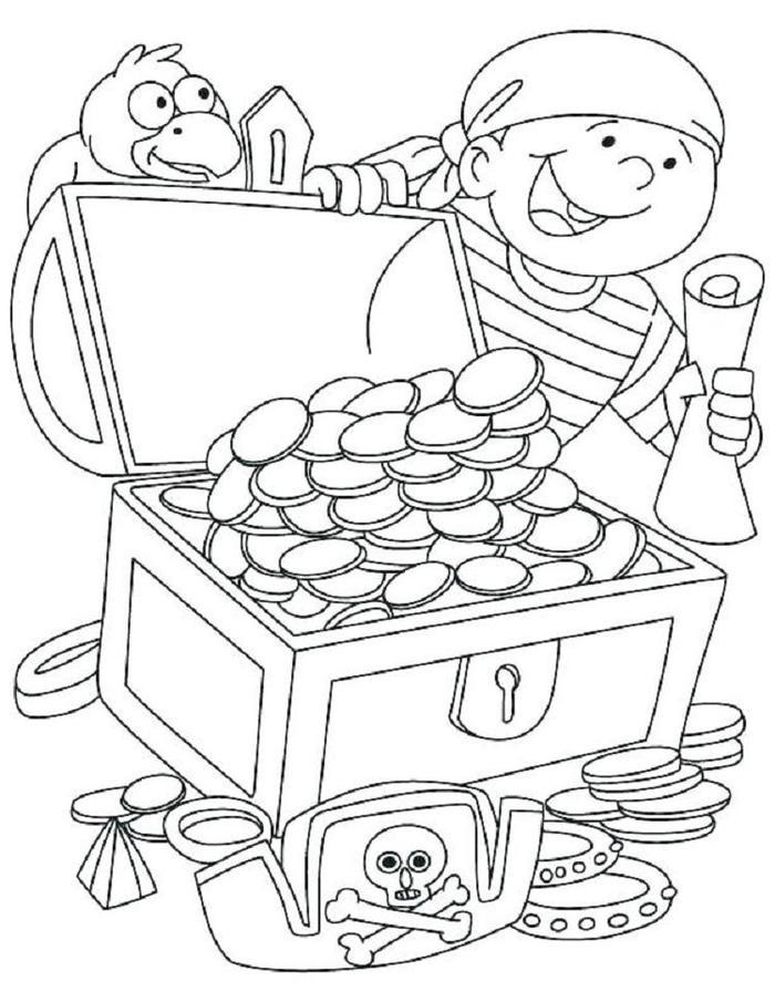 Jolly Roger Pirate Coloring Pages