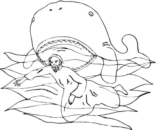 Jonah Bible Story Coloring Pages