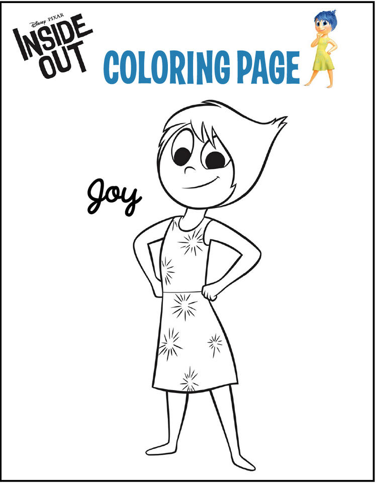 Joy From Inside Out Coloring Page