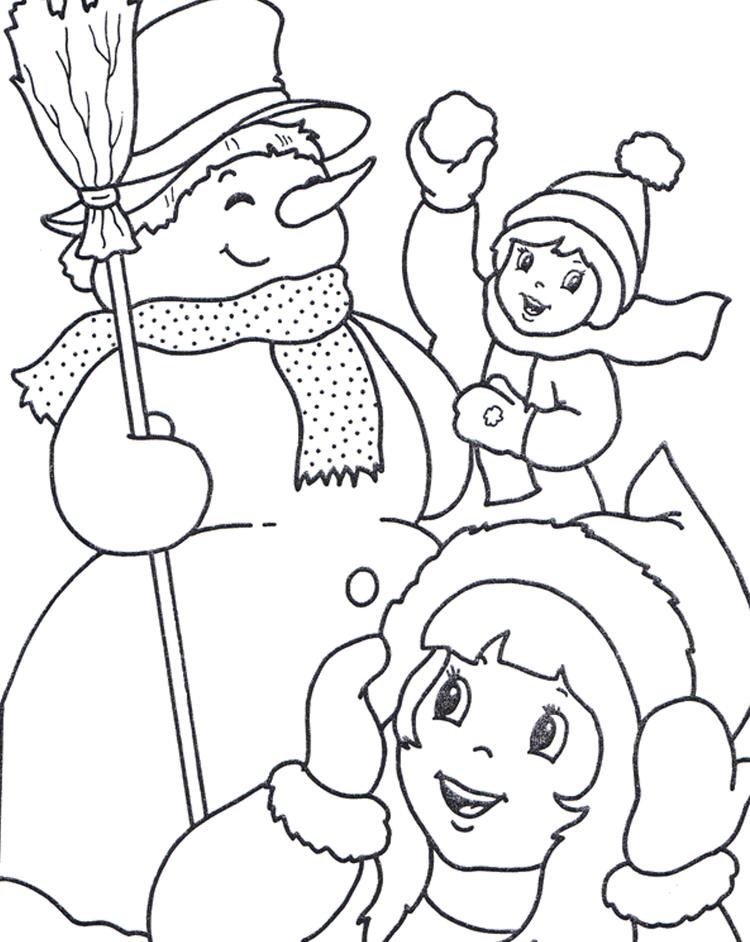 Joy Of Winter Coloring Pages