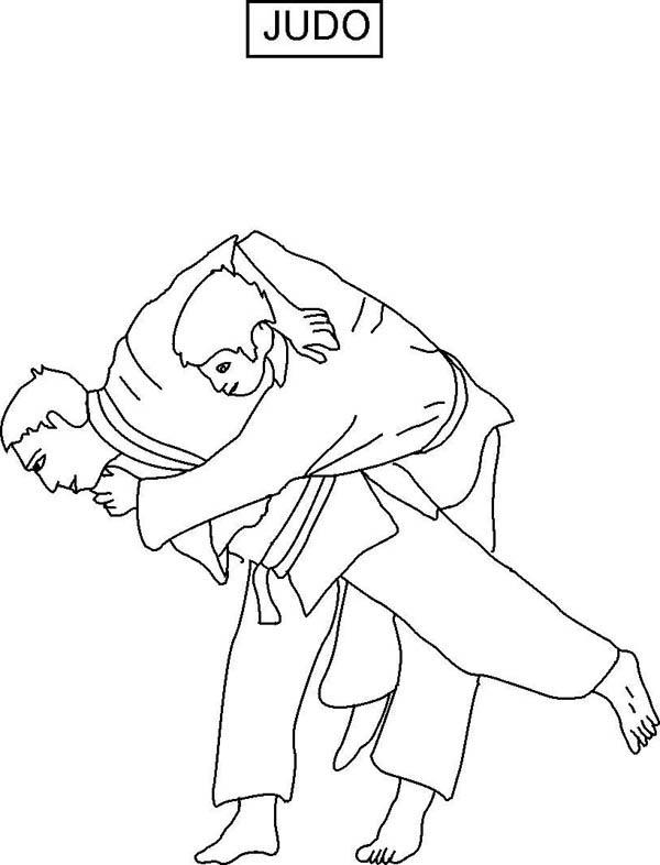 Judo Competition Coloring Pages