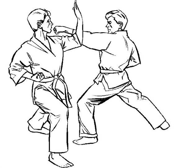 Judo International Athlete Coloring Pages
