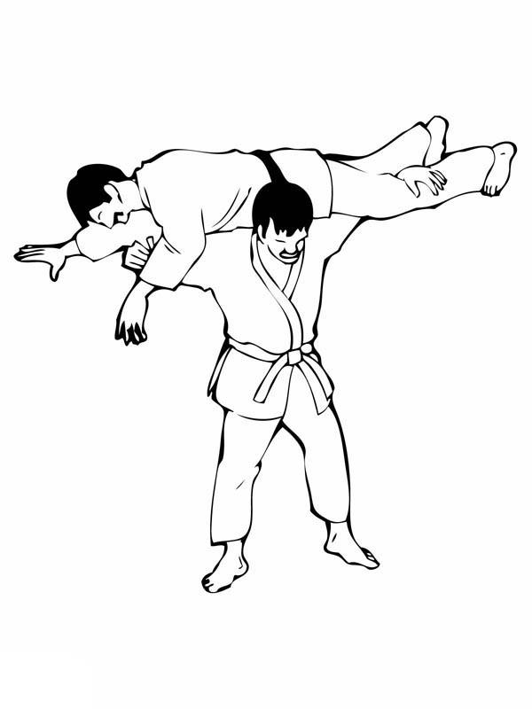 Judo Lifting Technique Coloring Pages