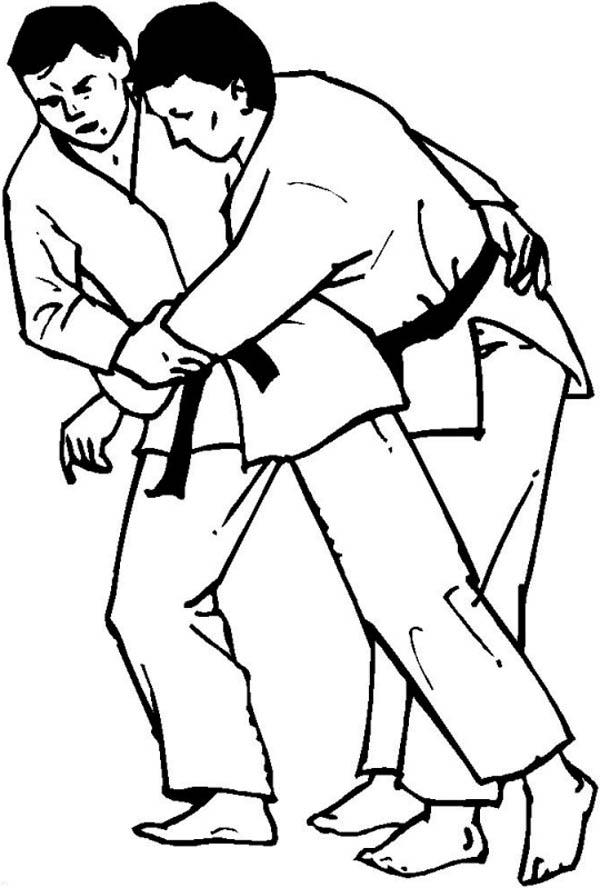 Judo Submission Technique Coloring Pages