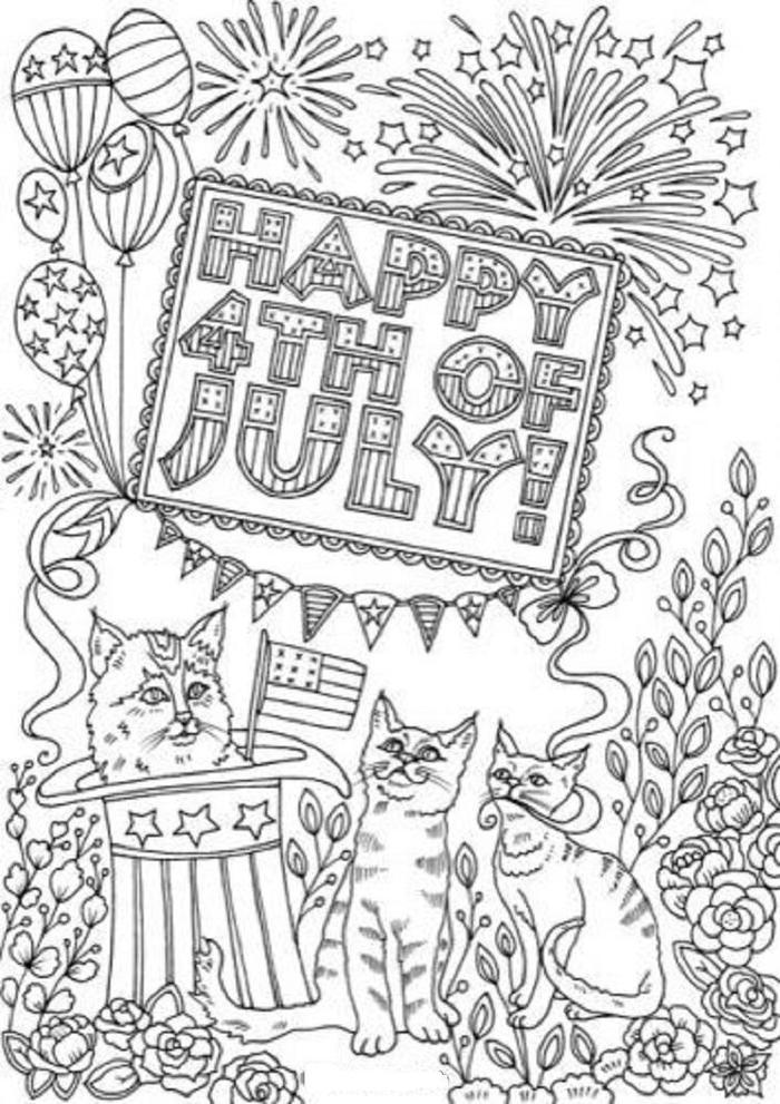 July Coloring Pages For Adults