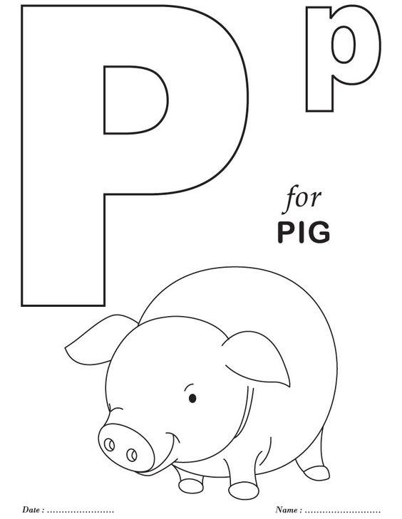 Jumbo Coloring Pages Alphabet