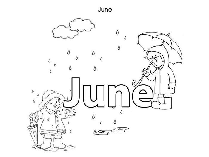 June Coloring Pages For Kids
