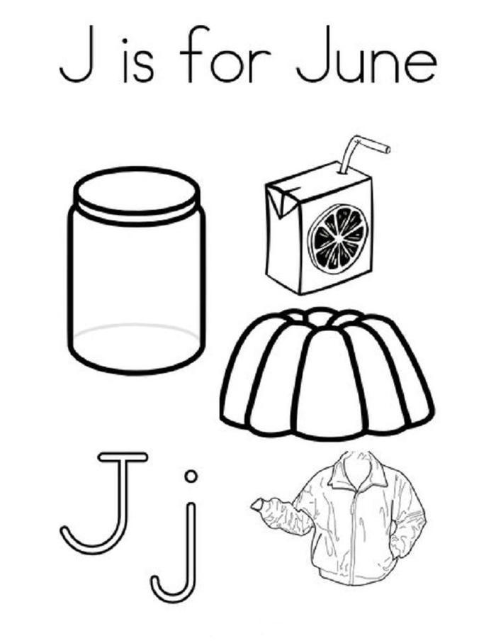 June Coloring Pages For Kindergarten