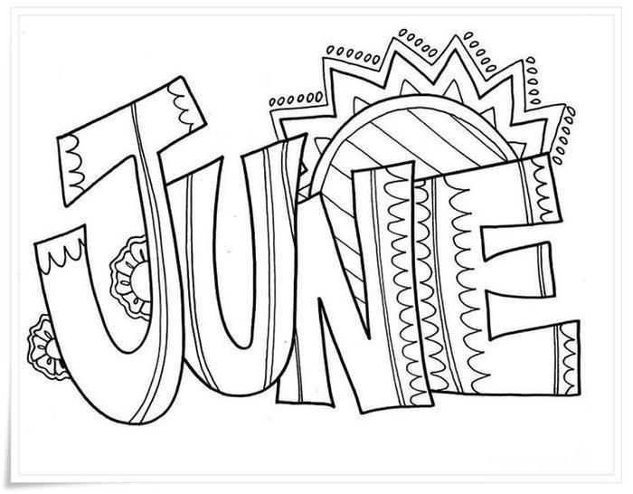 June Coloring Pages Printable