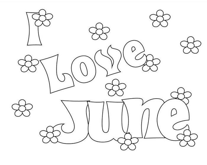 June Coloring Pages To Print