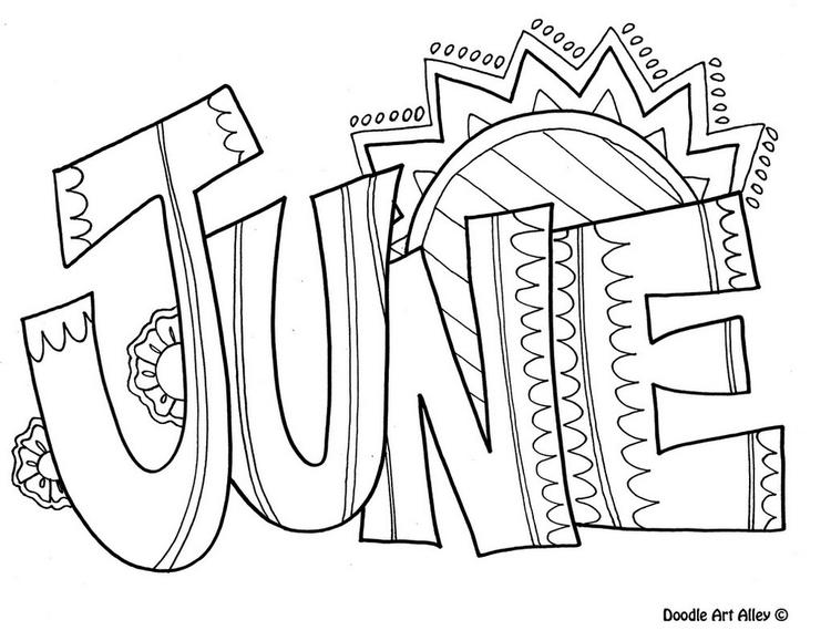 June Month Of The Year Coloring Page