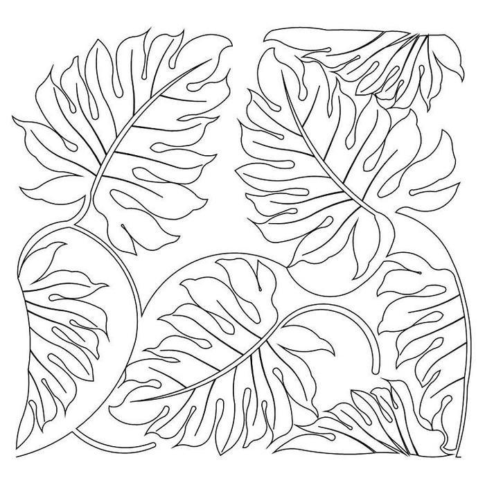 Jungle Leaves Coloring Pages