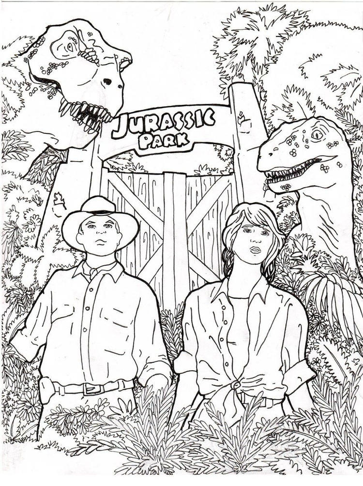Jurassic Park Coloring Pages Printable