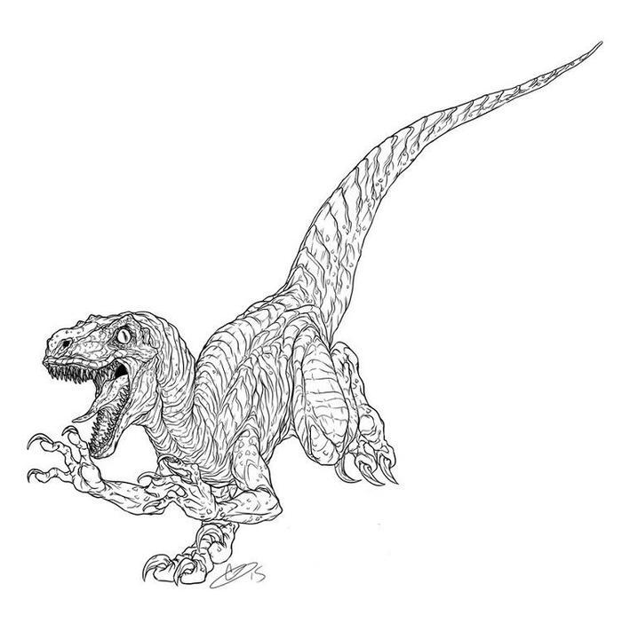 Jurassic World Coloring Pages Raptor