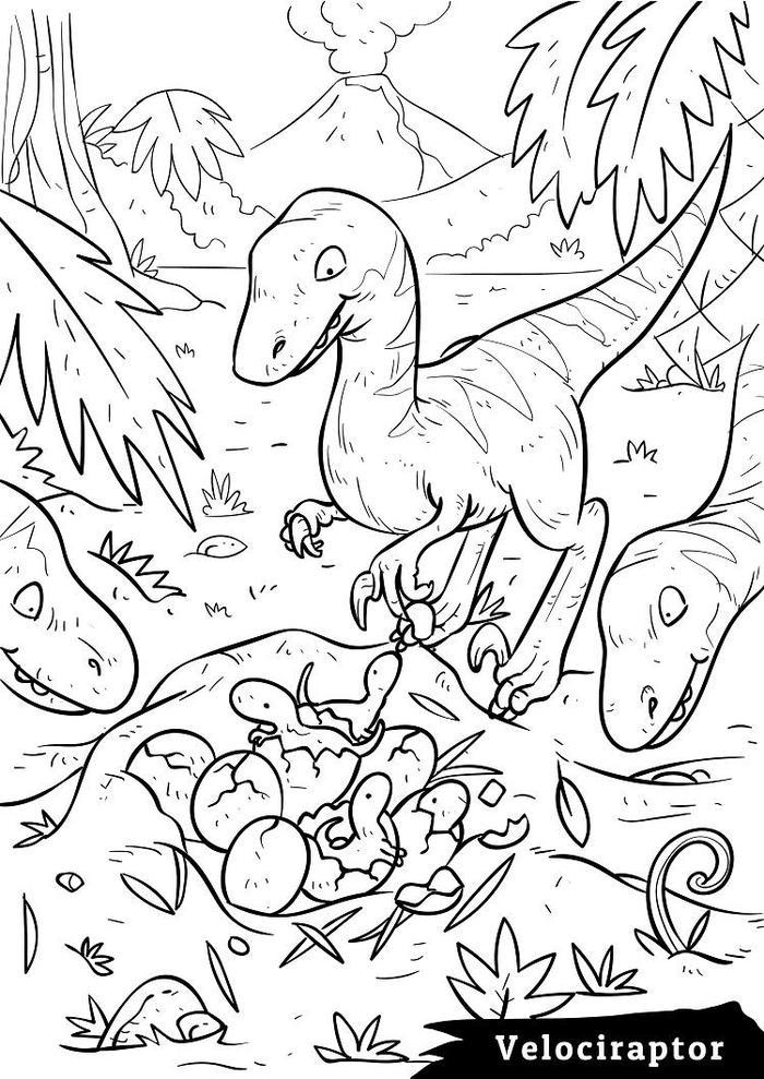 Jurassic world coloring pages velociraptor