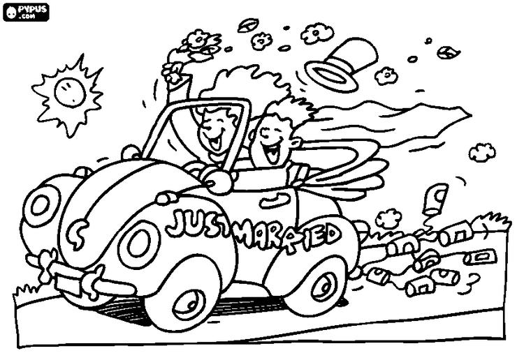 Just Married Car Clip Art