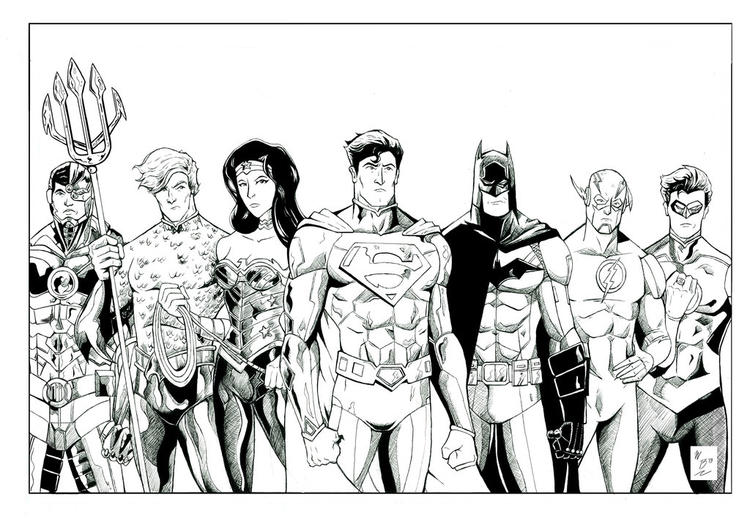 Justice league coloring pages all heroes